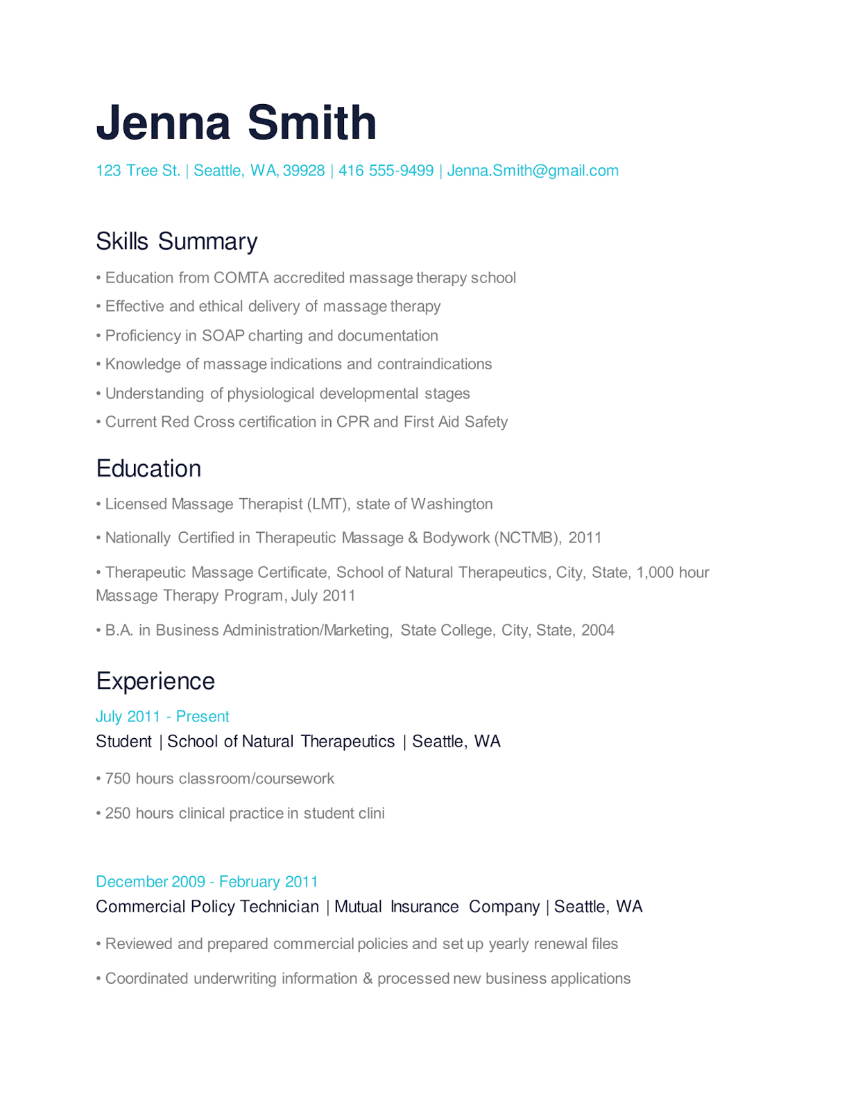 Occupational Therapist Sample Resume