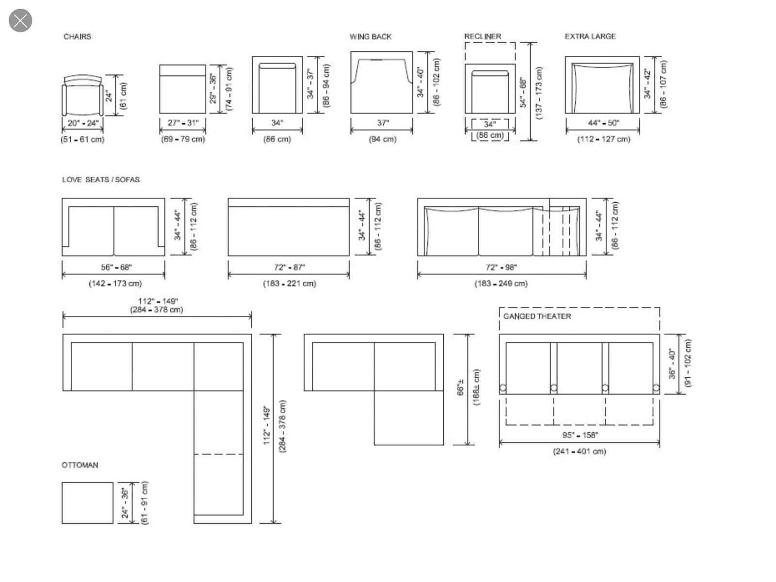 Sectional Sofa Measurements