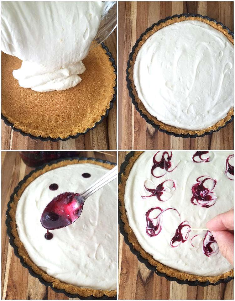 Montaje de la tarta cremosa sin horno