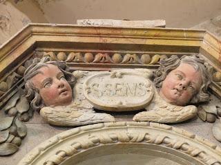 détail retable secondaire saint-saëns sens sidoine de Jumièges corny eure