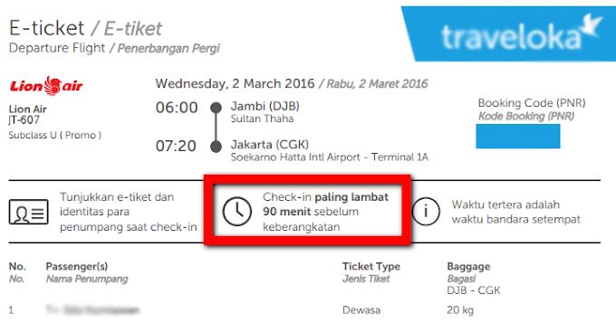 Please! Sampailah Di Bandara 1 Jam Sebelum Keberangkatan!
