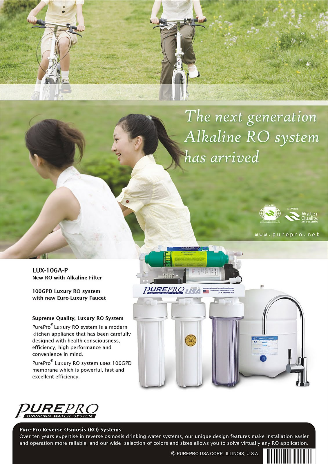 PurePro® LUX-106A-P Reverse Osmosis Water Filtration System