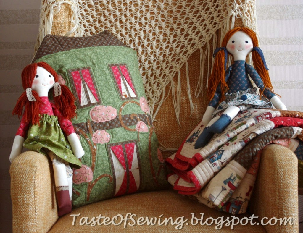 Подушка-дом house pillow case куклы из ткани primitive fabric dolls