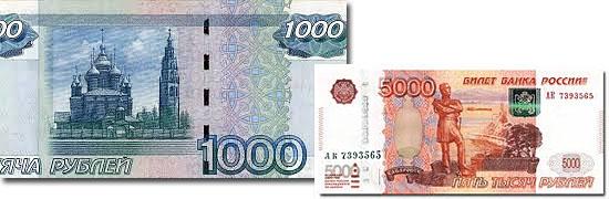 Dinheiro do mundo -Russia - Rublo