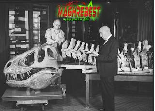 اكتشاف أول هيكل عظمي لـ T. Rex