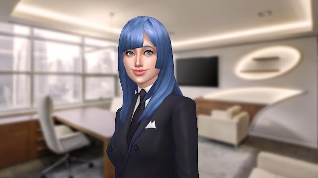 Sims 4 Miwa Kasumi Hair CC Download - Jujutsu Kaisen