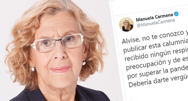 Manuela Carmena pone en su sitio al tuitero Albise tras la Fake News sobre su salud
