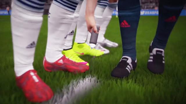 FIFA 16 árbitro marcando la barrera de la falta con el spray