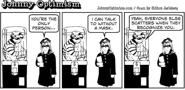 johnny optimism, medical, humor, sick, jokes, boy, wheelchair, doctors, hospital, stilton jarlsberg, evangelical, covid, bubble boy, water cooler, mask