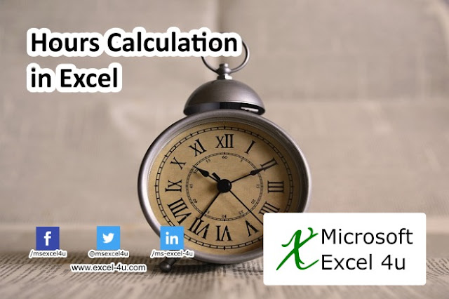 Hours Calculation in Excel