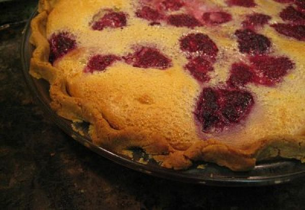 Raspberry Custard Pie - Gluten-Free
