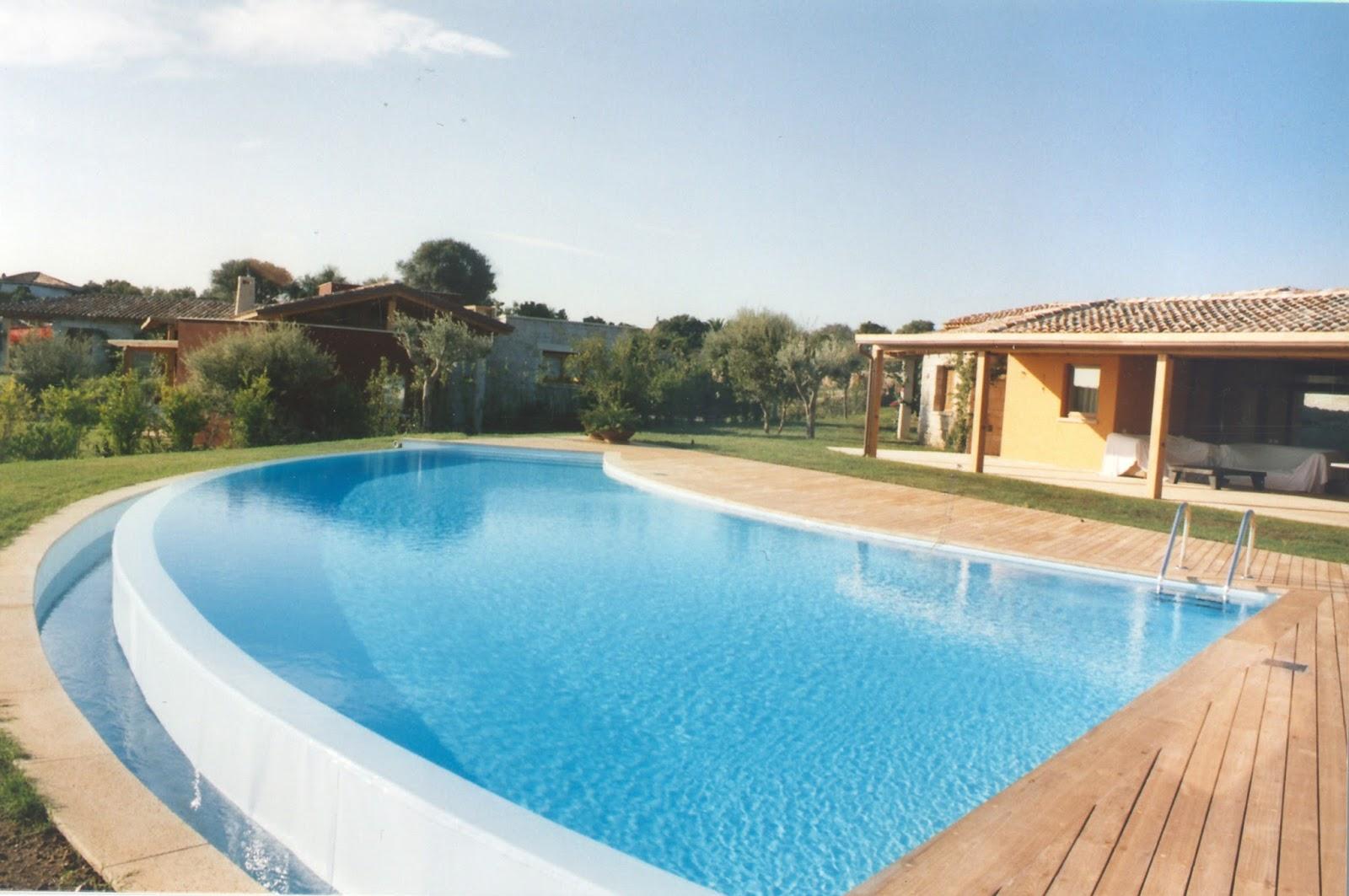 Progettazione e arredo in 3d piscine fuoriterra - Piscina a cascata ...