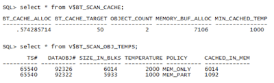 Table Temperature, Big Tables In-Memory and Automatic Big Table Caching
