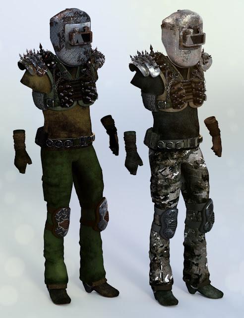Wastelander Genesis 3 Male Textures
