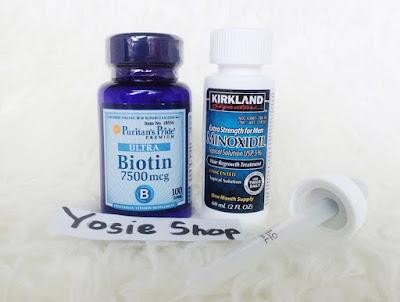 Paket New  Puritan's Biotin dan Kirkland Minoxidil Original  Original Untuk Penumbuh Brewok Ampuh