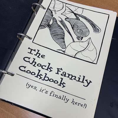 Family cookbook cover page