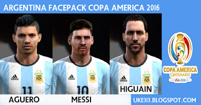 PES 2013 ARGENTINA MINI FACEPACK COPA AMERICA 2016