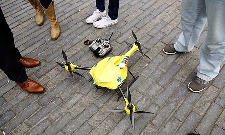 Летающий дрон-дефибрилятор на Стартап-Ньюс