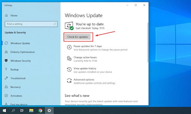 Cara Mengetahui Versi Windows 10 Yang kita Gunakan dan Update ke 1909