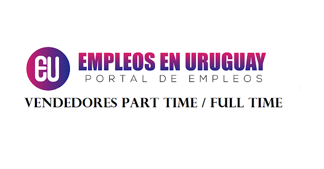Vendedores part time / full time