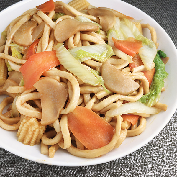 Japanese vegetable stir fried udon