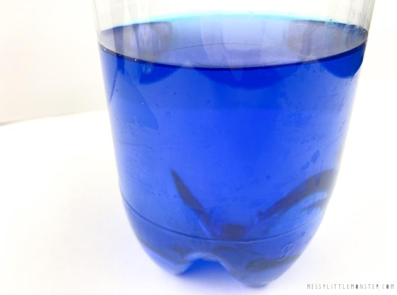 Ocean in a bottle sensory bottle