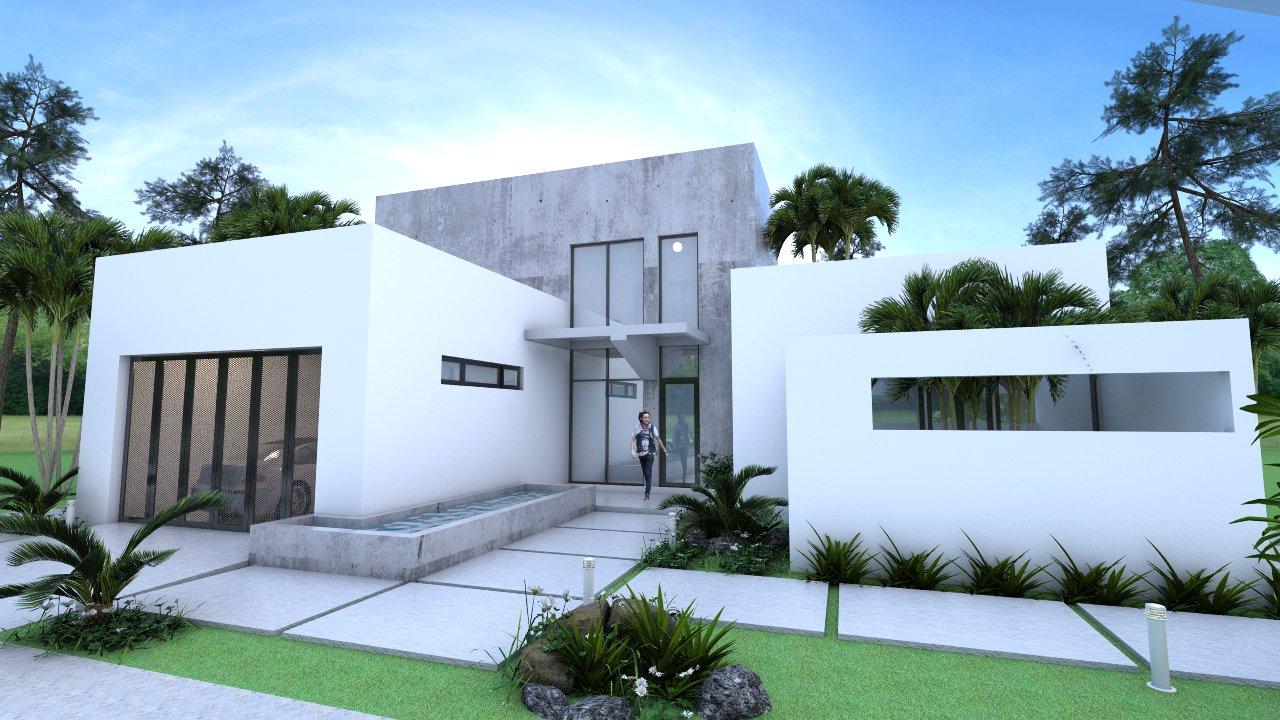 Sketchup Front Elevation : Villa design modeling with sketchup size m sam