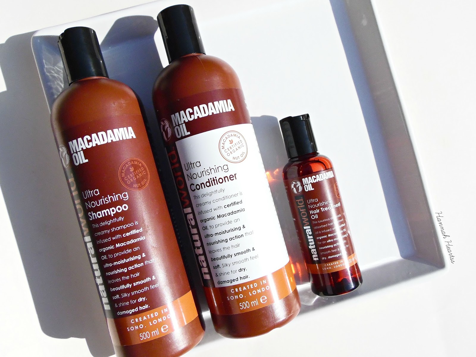 Natural World Macadamia Oil Hair Range Review