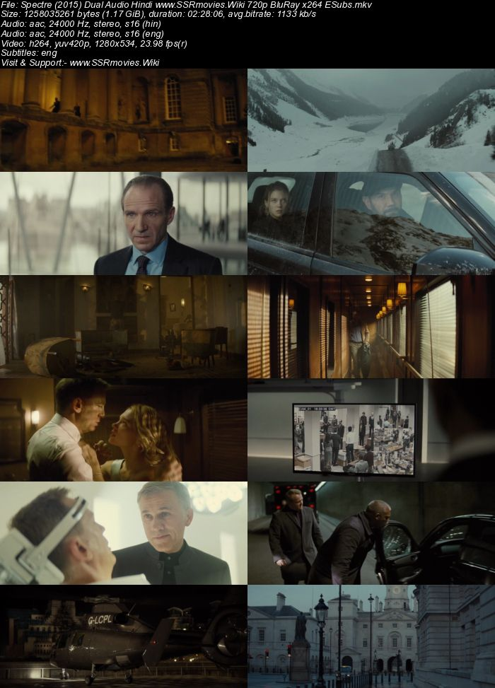 Spectre (2015) Dual Audio Hindi 480p BluRay x264 450MB ESubs Movie Download