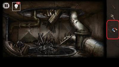 магнит с веревкой соединяем в игре выход из заброшенной шахты