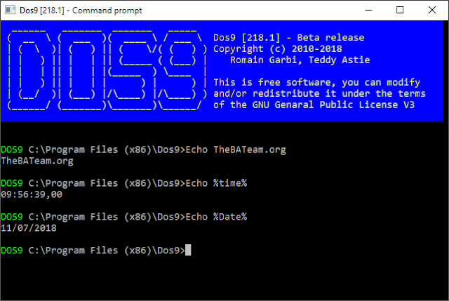 DOS9: A Free Command Prompt Batch Alternative | By DarkBatcher
