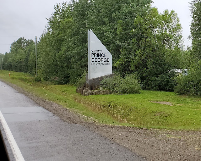 Prince George Welcome sign on Highway 97