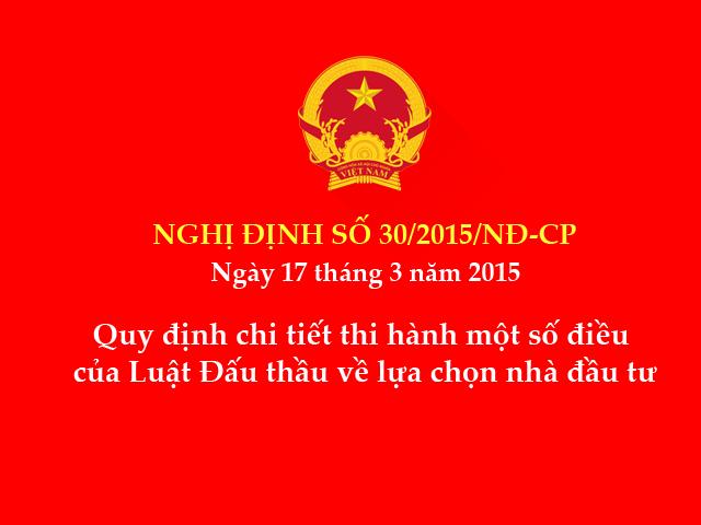 Nghị định số 30/2015/NĐ-CP của Chính phủ
