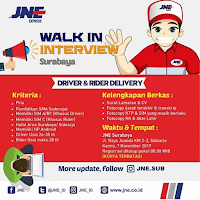 Walk In Interview at JNE Express Sidoarjo Terbaru November 2019