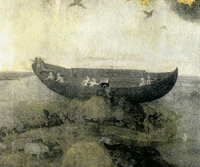 Hieronymus Bosch: Noah's Ark on Mt. Ararat (detail)