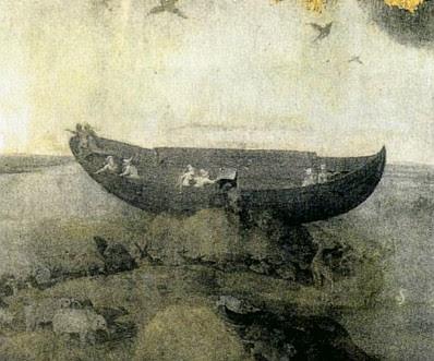Hieronymus Bosch: Noah's Ark on Mt. Ararat (detail)