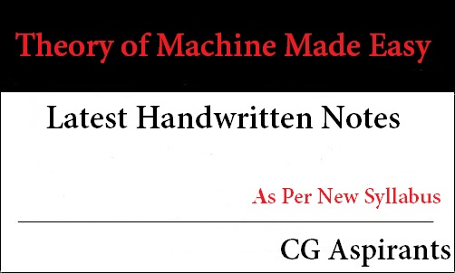 Download Theory of Machine Made Easy 2019 Handwritten Notes Pdf