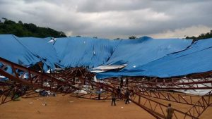 Video of collapsed church building in Uyo