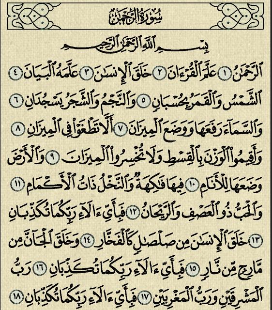 شرح وتفسير سورة الرحمن Surah Ar-Rahman