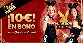 Paston 10 euros gratis slot PlayBoy Black Week Black Friday 23-30 noviembre 2020