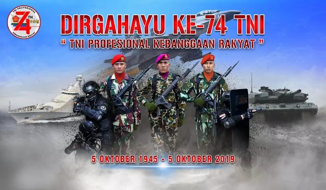 Puisi, Pantun dan Kata-kata Ucapan HUT TNI ke-74 Terbaru 2019