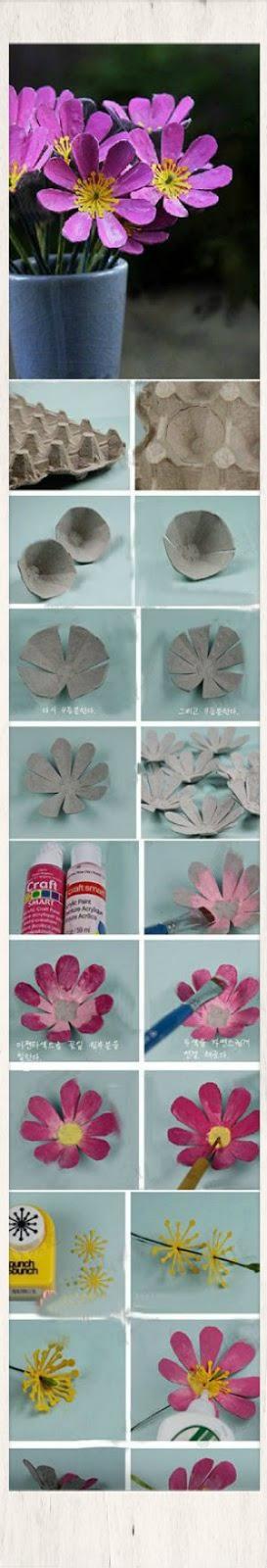 ιδεες διακοσμησης χαρτινες αυγοθηκες,χειροποιητες κατασκευες απο χαρτινες αυγοθηκες
