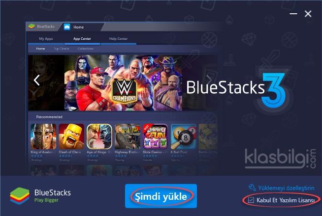 BlueStacks Kurulumu