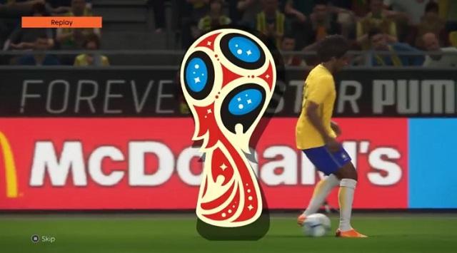 اضافة لوجو الاعادة بشعار كاس العالم روسيا 2018 لبيس 2018