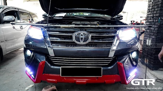 Toyota Fortuner nâng cấp bi gầm G-LED V3