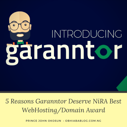 5 Reasons Garanntor Deserve NiRA Best WebHosting/Domain Award