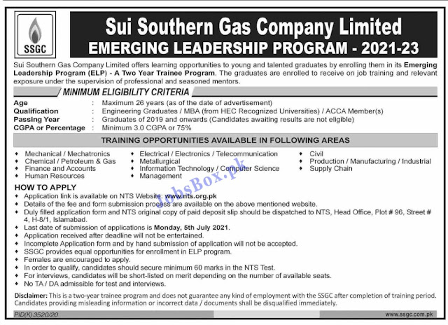 Sui Southern Gas Company Jobs 2021 Latest || SSGC Jobs 2021 Advertisement