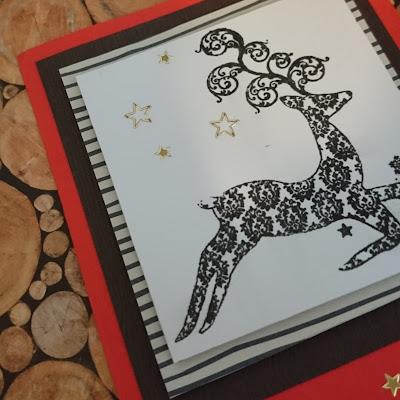 [DIY] Weihnachtskarte Rentier // Christmas Card Reindeer