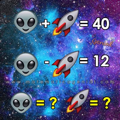 Desafio: Quanto vale o extraterrestre e foguete?