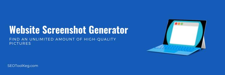 Website Screenshot Generator | Take Screenshot Of Any Sites